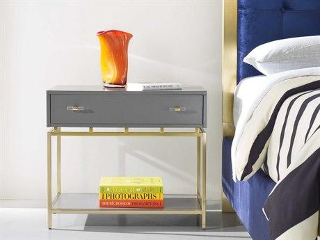 Hooker Furniture Cynthia Rowley Gray 32''W x 17''D Rectangular Nightstand