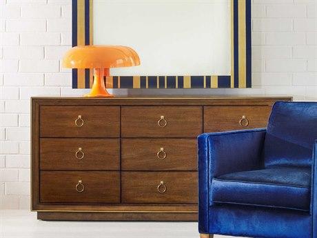 Hooker Furniture Cynthia Rowley Medium Wood Roman Nine-Drawer Triple Dresser HOO158690002BBRN