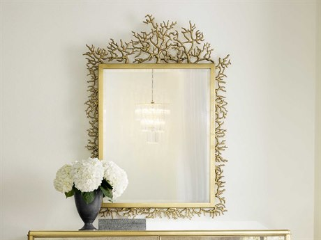 Hooker Furniture Cynthia Rowley Gold 39''W x 53''H Rectangular Twiggy Wall Mirror