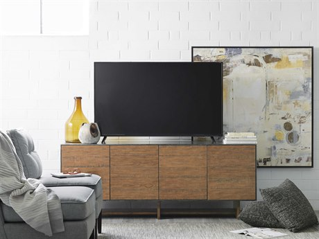 Hooker Furniture Delfina Medium Wood 72''L x 18''W Rectangular Entertainment Console HOO564155472DKW