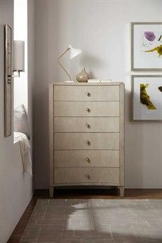 Hooker Furniture Elixir Serene Gray Beige 38''W x 59''H Rectangular Six-Drawer Chest of Drawer