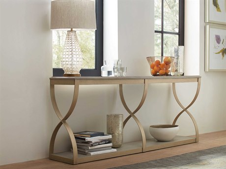 Hooker Furniture Elixir Serene Gray Beige / Champagne Silver 77''W x 17''D Rectangular Console Table HOO599085001LTWD