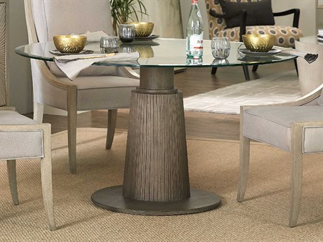 Hooker Furniture Elixir Champagne Silver / Soft Gray 48'' Wide Round Convertible Dining Table / Counter Table