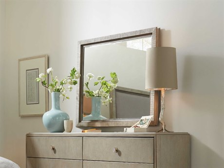 Hooker Furniture Elixir Champagne Silver with Grey Beige 36''W x 42''H Rectangular Wall Mirror