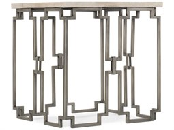 Emmeline White Travertine / Metal 22'' Wide Square End Table