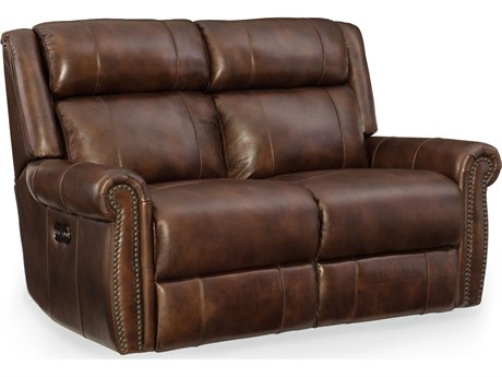 Hooker Furniture Esme Chocolate Power Motion Loveseat with Power Headrest