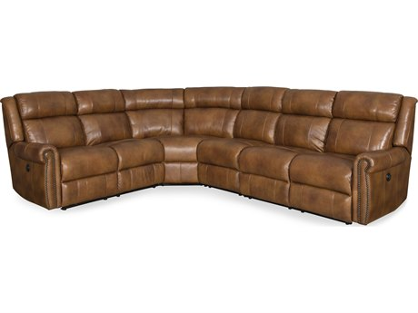 Hooker Furniture Esme Carmel Four-Piece Power Sectional Sofa HOOSS461PS185