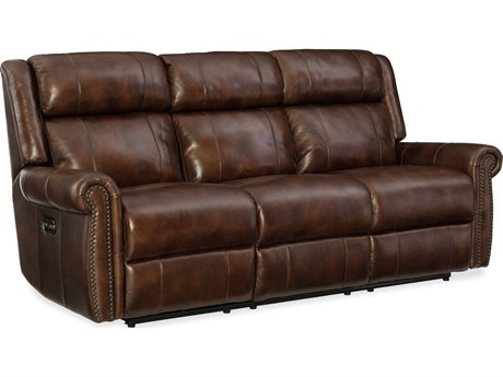 Hooker Furniture Esme Chocolate Power Motion Sofa with Power Headrest HOOSS461P3188