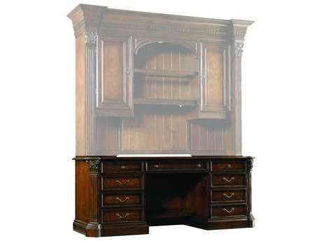 Hooker Furniture European Renaissance II Dark Rich Brown 76''L x 26''W Rectangular Computer Credenza HOO37410464