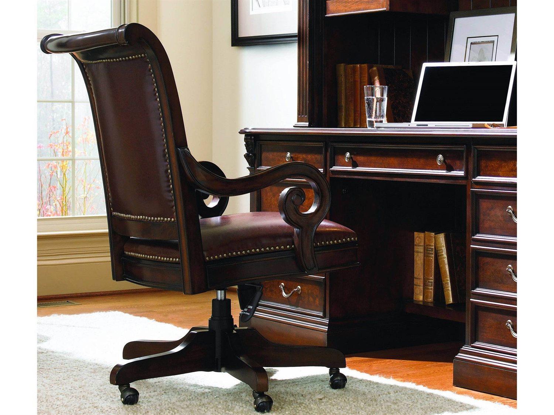 Hooker Furniture European Renaissance II Dark Rich Brown Executive Swivel  Chair