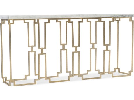 Hooker Furniture Evermore Kala White Marble / Gold 62'' Wide Rectangular Console Table HOO16878015100