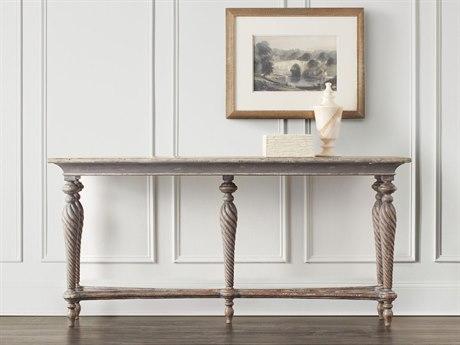 Hooker Furniture Five-Legged Dark Wood 72''L x 18''W Rectangular Console Table