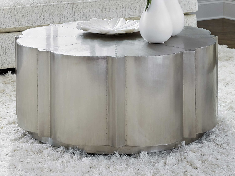 - Hooker Furniture German Silver 40'' Wide Round Coffee Table  HOO563780111SLV