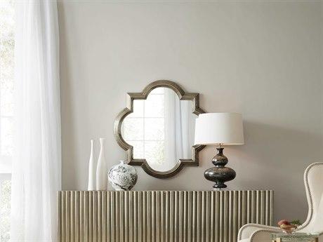 Hooker Furniture German Silver 38'' Wide Quatrefoil Wall Mirror HOO563750001SLV