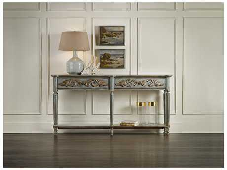 Hooker Furniture Gray 72''L x 12''W Rectangular Gilded Console Table HOO534985001