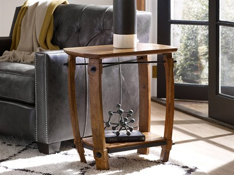 Hooker Furniture Glen Hurst Medium Wood 15''L x 24''W Rectangular Chairside End Table HOO551380114MWD