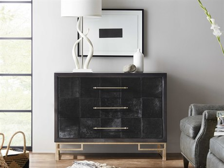 Hooker Furniture Hair on Hide Black Accent Chest HOO50050948DKW