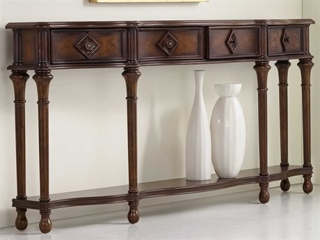 Hooker Furniture Medium Wood 72''L x 12''W Rectangular Hall Console Table HOO96385122