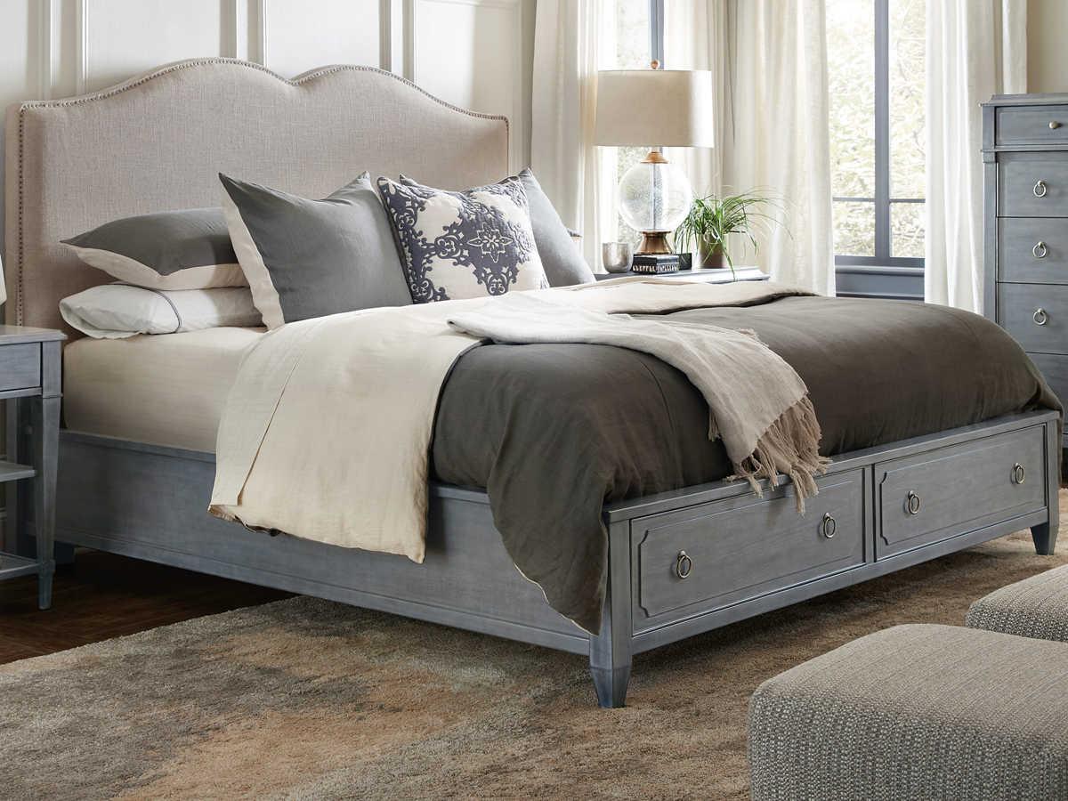 Hooker Furniture Hamilton Gray Queen Panel Bed