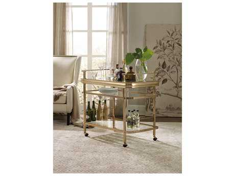 Hooker Furniture Highland Park Gold Kitchen Bar Cart
