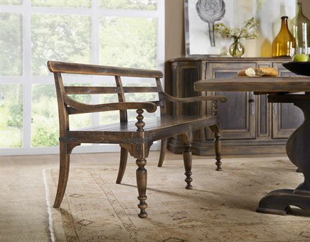 Hooker Furniture Hill Country Timeworn Saddle Brown Helotes Dining Bench