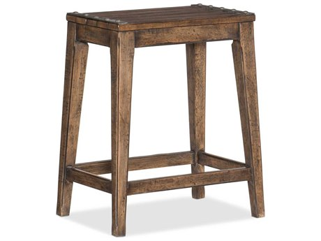 Hooker Furniture Hill Country Timeworn Saddle Brown Medina Lake Backless Counter Stool