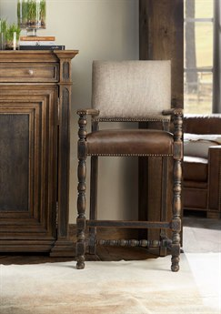 Hooker Furniture Hill Country Black Arm Counter Height Stool