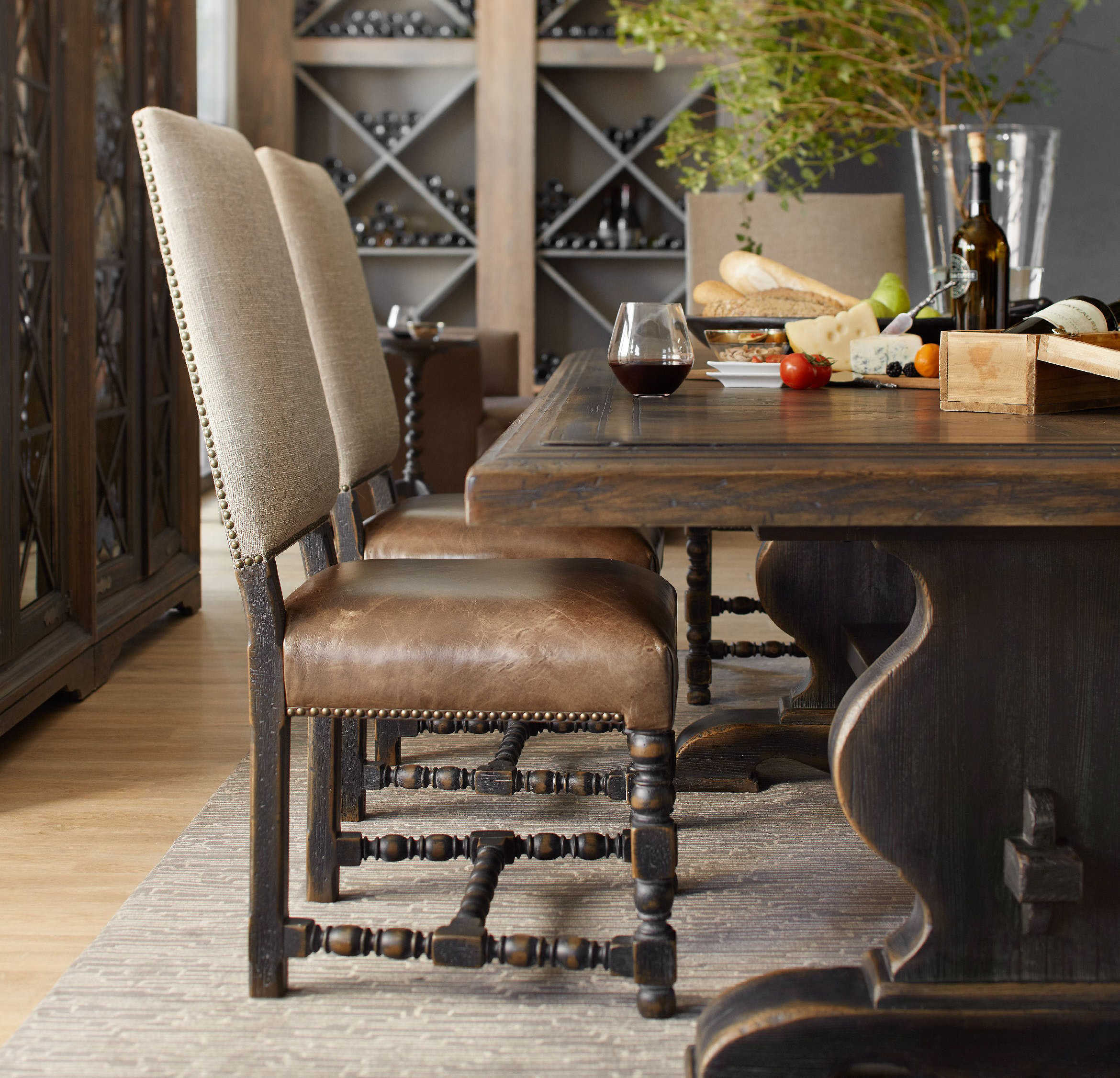 Hooker Furniture Hill Country Black Side Dining Chair