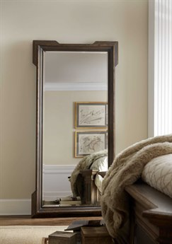 Hooker Furniture Hill Country Black 38''W x 78''H Rectangular Macdona Floor Mirror