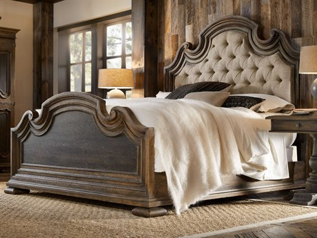Hooker Furniture Hill Country Timeworn Saddle Brown / Anthracite Black with Blackwood Desert Queen Size Panel Bed