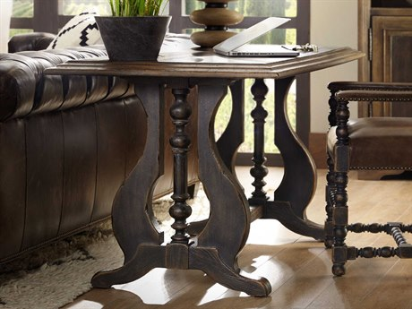Hooker Furniture Hill Country Timeworn Saddle Brown / Anthracite Black 60''W x 30''D Rectangular Lytle Writing Desk