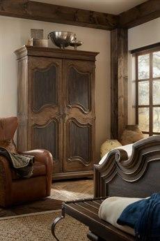 Hooker Furniture Hill Country Timeworn Saddle Brown / Anthracite Black Lakehills Wardrobe HOO596090013MULTI