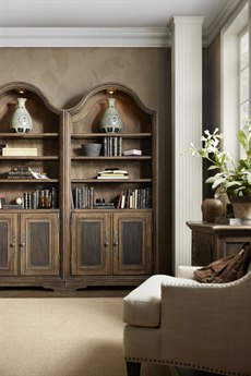 Hooker Furniture Hill Country Timeworn Saddle Brown / Anthracite Black Pleasanton Bunching Bookcase