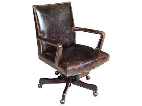 Hooker Furniture Imperial Regal Dark Wood Executive Swivel Chair HOOEC434089