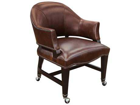 Hooker Furniture Isadora Nut Game Natchez Brown Dining Arm Chair HOOGC100086