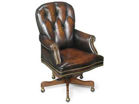 Hooker Furniture James River Edgewood Medium Wood Executive Swivel Tilt Chair HOOEC278