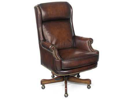Hooker Furniture James River Z-Dam Dark Wood Executive Swivel Chair HOOEC293