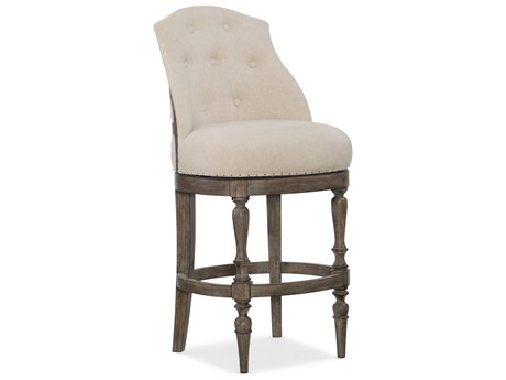 Hooker Furniture Kacey Gray with Samantha Taupe Barstool