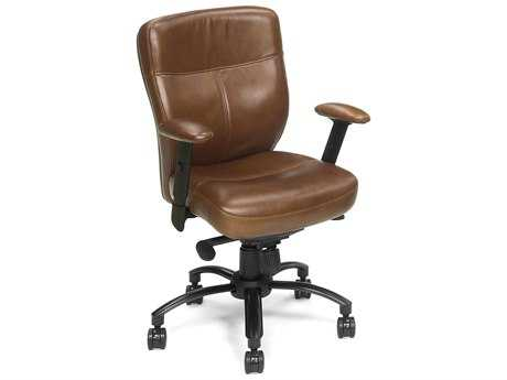 Hooker Furniture Brown Keats Black Executive Swivel Chair HOOEC204