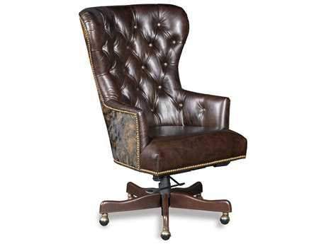 Hooker Furniture Kingston Eden with Dark Brindle Natchez Brown Executive Chair HOOEC448087