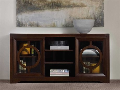 Hooker Furniture Kinsey Dark Wood 60''L x 20''W Rectangular Entertainment Console HOO506655402