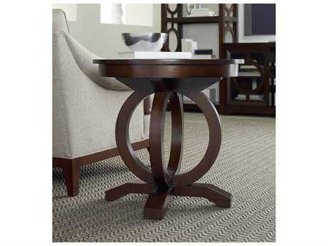 Hooker Furniture Kinsey Dark Wood 26'' Wide Round End Table