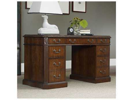Hooker Furniture Medium Wood 54''L x 26''W Rectangular Writing Desk HOO508210301
