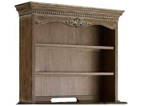 Hooker Furniture La Maison du Travial Taupe with White & Light Gold Leaf Credenza Hutch HOO543510469