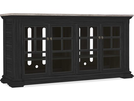 Hooker Furniture Lagunnitas Black 68''L x 19''W Rectangular Entertainment Console HOO564455468BLK