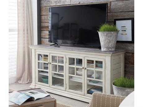 Hooker Furniture Lagunnitas White with Grey Top 68''L x 19''W Rectangular Entertainment Console HOO564455468LTWD