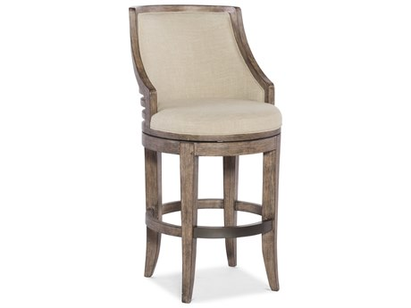 Hooker Furniture Lainey Gray with Samantha Taupe Barstool HOO30020053