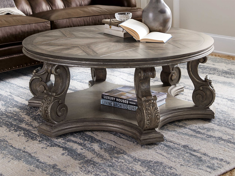 - Hooker Furniture Woodlands Medium Wood 48'' Wide Round Coffee Table  HOO58208011085
