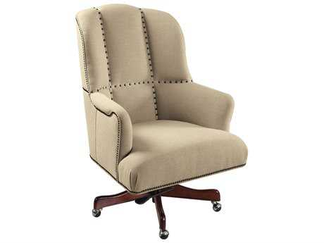 Hooker Furniture Larkin Oat Dark Wood Executive Swivel Chair HOOEC433010