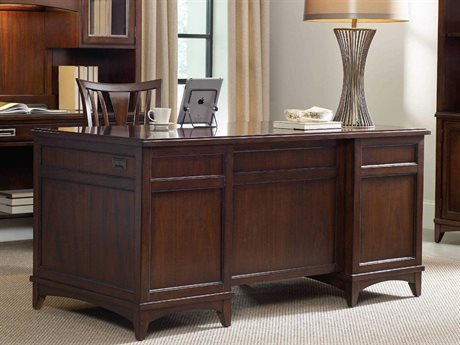 Hooker Furniture Latitude Dark Wood 66''L x 32''W Rectangular Executive Desk HOO516710562